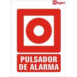 SEÑAL PULSADOR DE ALARMA PVC 21 X 29,7 CM