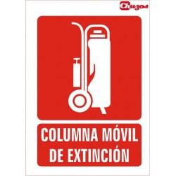 SEÑAL COLUMNA MOVIL DE EXTINCION PVC 21 X 29,7 CM