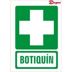 SEÑAL BOTIQUIN PVC 21 X 29,7 CM