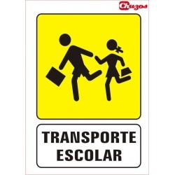 SEÑAL TRANSPORTE ESCOLAR PVC 21 X 29,7 CM
