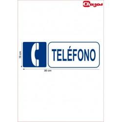 SEÑAL TELEFONO PVC 10 X 30 CM