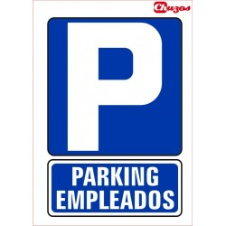SEÑAL PARKING EMPLEADOS PVC 21 X 29,7 CM