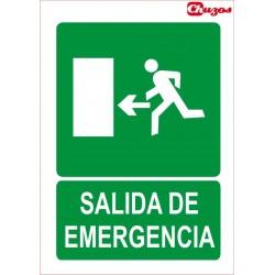 SINAL SAIDA DE EMERXENCIA ESQUERDA PVC 21 X 29,7 CM