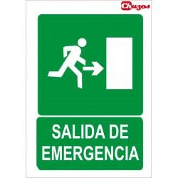 SEÑAL SAIDA DE EMERXENCIA DEREITA PVC 21 X 29,7 CM