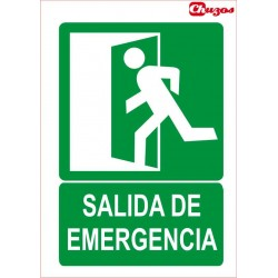 SEÑAL SALIDA DE EMERGENCIA PVC 21 X 29,7 CM