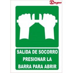 SEÑAL SALIDA DE SOCORRO PVC 21 X 29,7 CM