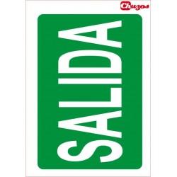 SEÑAL SALIDA PVC 21 X 29,7 CM