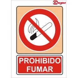 SEÑAL PROHIBIDO FUMAR PVC 21 X 29,7 CM
