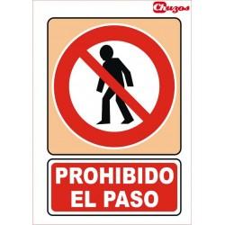 SEÑAL PROHIBIDO EL PASO PVC 21 X 29,7 CM