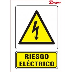 SEÑAL RIESGO ELECTRICO PVC 21 X 29,7 CM