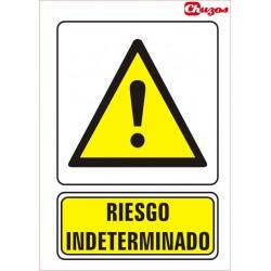 SINAL ATENCION RISCO INDETERMINADO PVC 21 X 29,7 CM