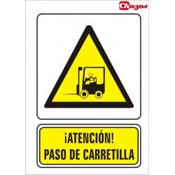 SEÑAL ATENCION PASO DE CARRETILLA PVC 21 X 29,7 CM