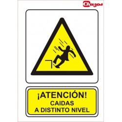 SEÑAL ATENCION CAIDAS A DISTINTO NIVEL PVC 21 X 29,7 CM