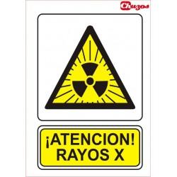 SEÑAL ATENCION RAYOS X PVC 21 X 29,7 CM