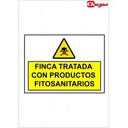 SEÑAL FINCA TRATADA CON PRODUCTOS FITOSANITARIOS PVC 21 X 29,7 CM