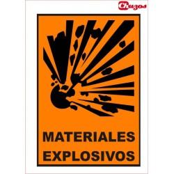 SEÑAL MATERIALES EXPLOSIVOS PVC 21 X 29,7 CM