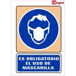 SEÑAL ES OBLIGATORIO EL USO DE MASCARILLA PVC 21 X 29,7 CM