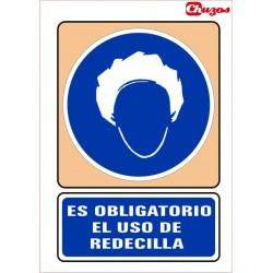 SEÑAL ES OBLIGATORIO EL USO DE REDECILLA PVC 21 X 29,7 CM