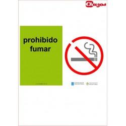 SEÑAL PROHIBIDO FUMAR PVC 21 X 29,7 CM APAISADO