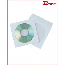 SOBRE PAPEL CD / DVD VENTANA 108 MM 125 X 125 MM 50 UDS