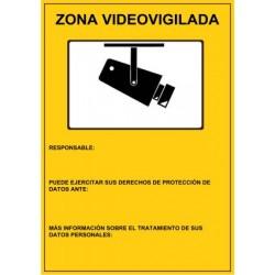SEÑAL ZONA VIDEOVIGILADA PVC 21 X 29,7 CM