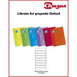 CUADERNO OXFORD GRAPADO A4 48 HJS PAUTA ESTRECHA 2,5 MM