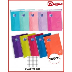 CUADERNO OXFORD ESPIRAL A4 CUADRICULA 80 HJS 90 GRS 5X5 TOUCH