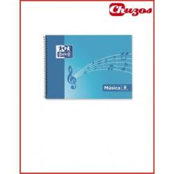 BLOC DE MUSICA 4º APAISADO 20 HJS 8 PENTAGRAMAS OXFORD