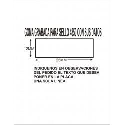 GOMA GRABADA PARA SELLO FECHADOR 4850