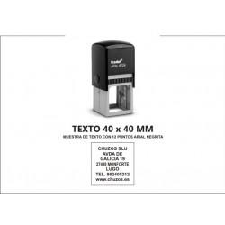 SELLO PERSONALIZADO AUTOMATICO 40 X 40 MM TRODAT 4924
