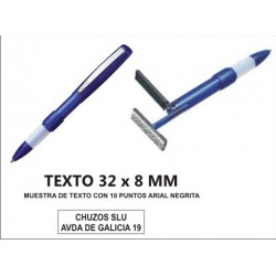 SELLO PERSONALIZADO CON BOLIGRAFO 32 X 8 MM 50690