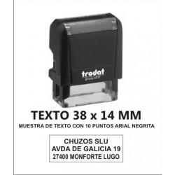 SELLO PERSONALIZADO AUTOMATICO 38 X 14 MM TRODAT 4911
