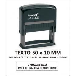 SELLO PERSONALIZADO AUTOMATICO 50 X 10 MM TRODAT 4917