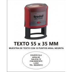 SELLO PERSONALIZADO OVALADO AUTOMATICO OVALADO 55 X 35 MM TRODAT 44055
