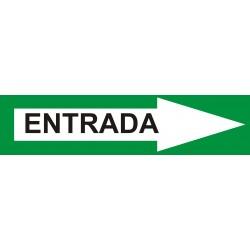Señal indicadora de entrada 50 x 12 cms verde blanco