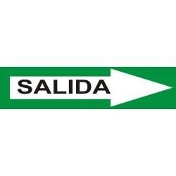Señal indicadora de salids 50 x 12 cms verde blanco