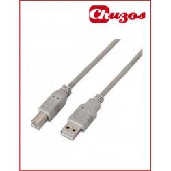 CABLE USB AB 2.0 3 METROS
