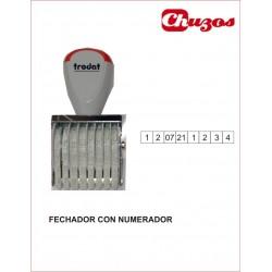 SELLO FECHADOR CON NUMERADOR 8 BANDAS 3 MM X 30 MM TRODAT
