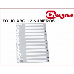 GRAFOPLAS SEPARADOR Fº NAT PVC 1-12
